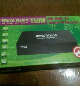 Т2 приставка World Vision t59m