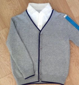 Джемпер SELA с имитацией рубашки