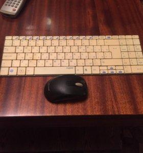 Беспроводная мышка и беспроводная клавиатура