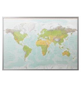 Картина с рамой, Планета Земля, цвет алюминия