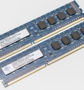 4гб (2х2Гб) nanya DDR3 1333Mhz