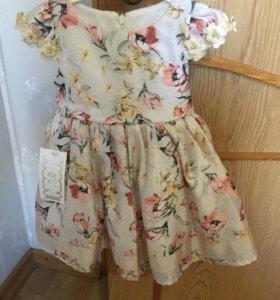 Детское нарядное Платье 9-12 мес