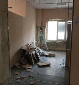 Демонтаж домов и внутри помещения