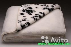 Одеяло двухстороннее из мериноса (овечья шерсть)
