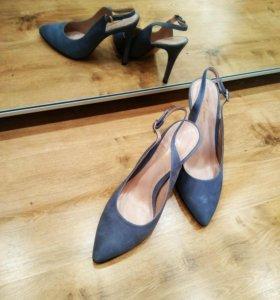 Туфли, натуральная замша, новые!