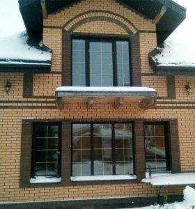 Окна ПВХ,рольставни,алюми-е конструкции с отделкой