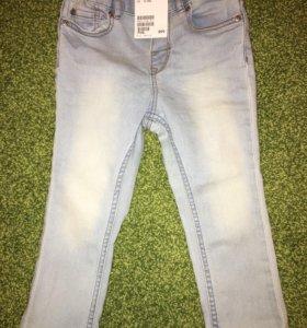 Новые джинсы h&m 86-92 см