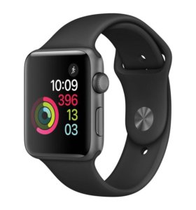 Apple Watch S2 Sport 42mm Sp. Gr. Al/Black (новые)