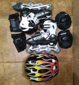 Детские роликовые коньки 32-35 размер