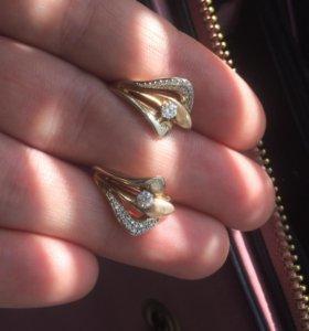 Серьги бриллиантовые