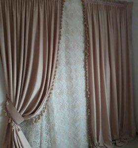 Продаю новые портьеры шторы и тюль.