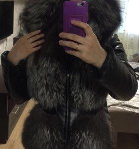 Кожаная куртка из чернобурки