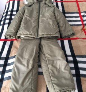 Зимний комплект(куртка и комбинезон)для мальчика