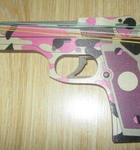 "Пистолет ""Берета ""Хаки"" стреляющий резинками 2"