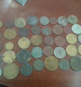 Монеты СССР 40 штук на опыты