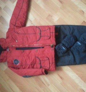 Куртка+комбинезон,+ варежки