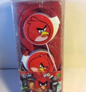 ✅ Новые наушники Angry Birds, красные