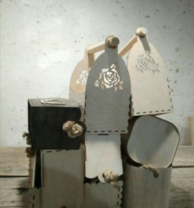 Деревянеые декоративные корзинки