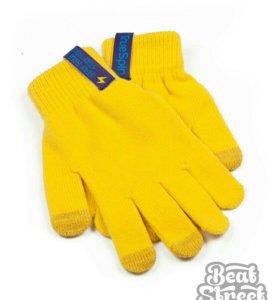 Перчатки TrueSpin - Touch Gloves - желтые