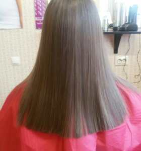 Кератиновое выпрямление, ботокс для волос.