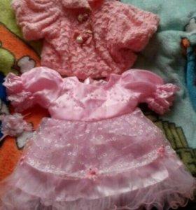 Платье шикарное с болеро на 1 годик