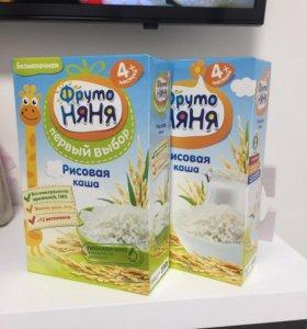 Фрутоняня рисовая каша 4+