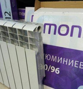 Радиатор Monlan 500/96, 12 секций, алюминий.