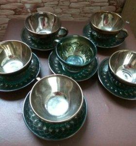 Чайный набор( 6 чашек и 6 блюдец)
