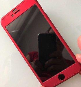 Чехол на iPhone 6/6s plus со стеклом