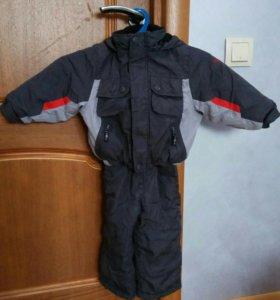 детский зимний комбинезон+ куртка