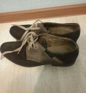 Туфли мужские замша