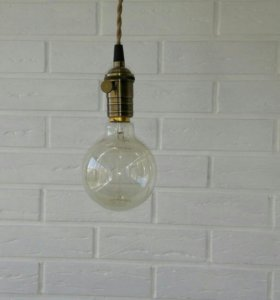 Люстра с винтажной лампой