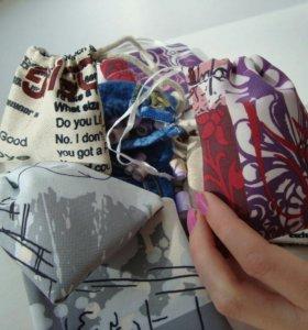 Подарки. Свертки в мешочках