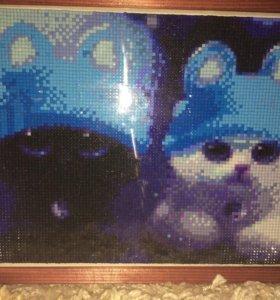 Вышивка котики