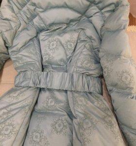 Зимнее пуховое пальто. Очень стильное и теплое.