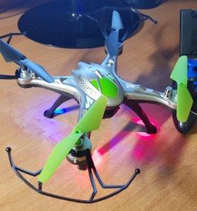 Квадрокоптер с fpv камерой новый зеленый