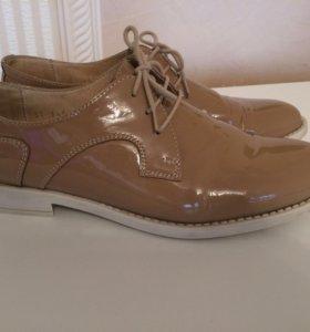 Полуботинки ботинки женские кожаные