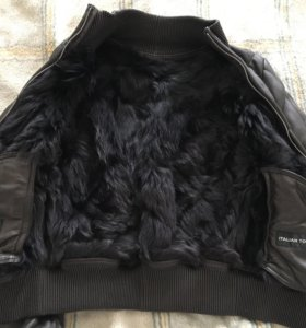 Кожаная куртка с натуральным мехом Vericci,42-44