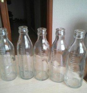Бутылочки стеклянные объем 200 мл