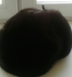 Мужская норковая шапка-ушанка (кепка)