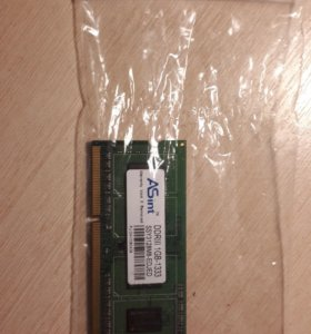 ОЗУ Asint ddr3 1 GB 1333 Мгц для ноутбука