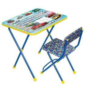 Стол и стул детский новый