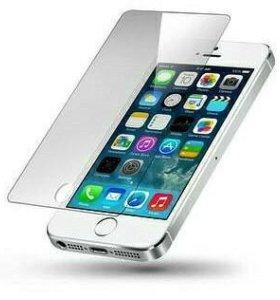 Стекло защитное на iPhone 5