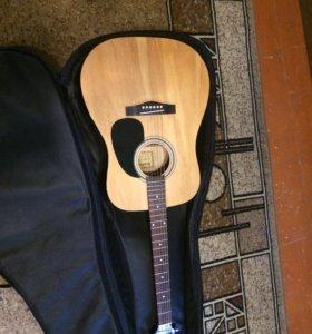 Акустическая гитара Martinez faw-701 с чехлом solo