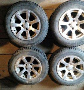Зимние колёса в сборе r14