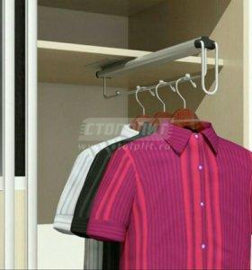 Вешалка для одежды выдвижная. Новая.