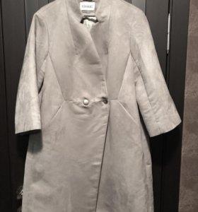 Замшевое пальто (можно и для беременных)