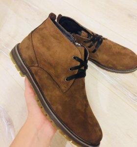 Ботинки мужские новые зимние-нубук