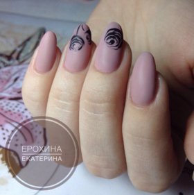 Маникюр, покрытие ногтей гель-лаком, наращивание