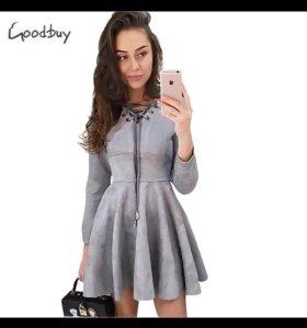 Платье замш новое!